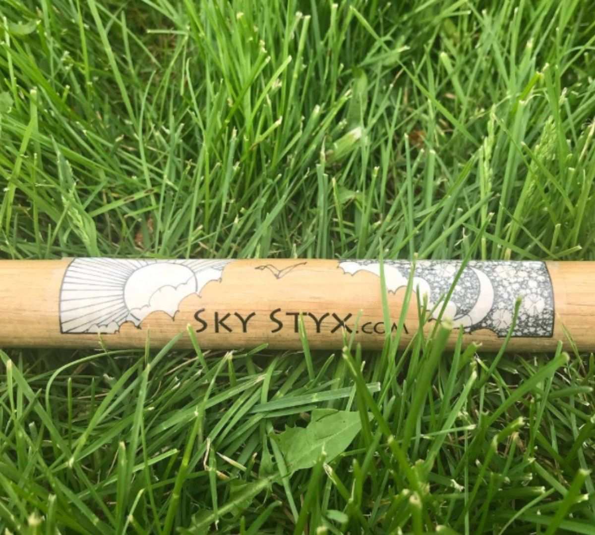 Sky Styx Staff in grass.